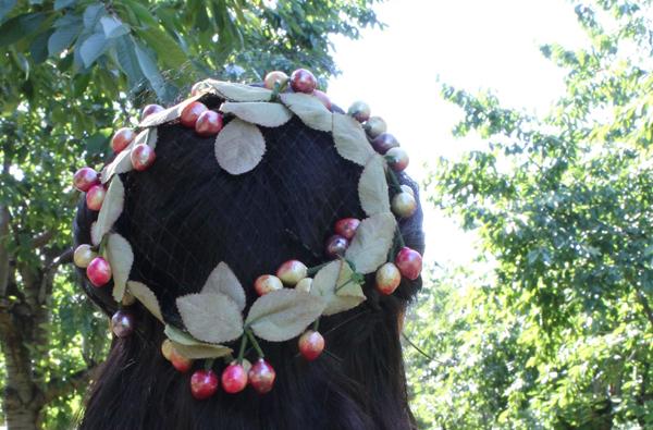 vintage cherry hat