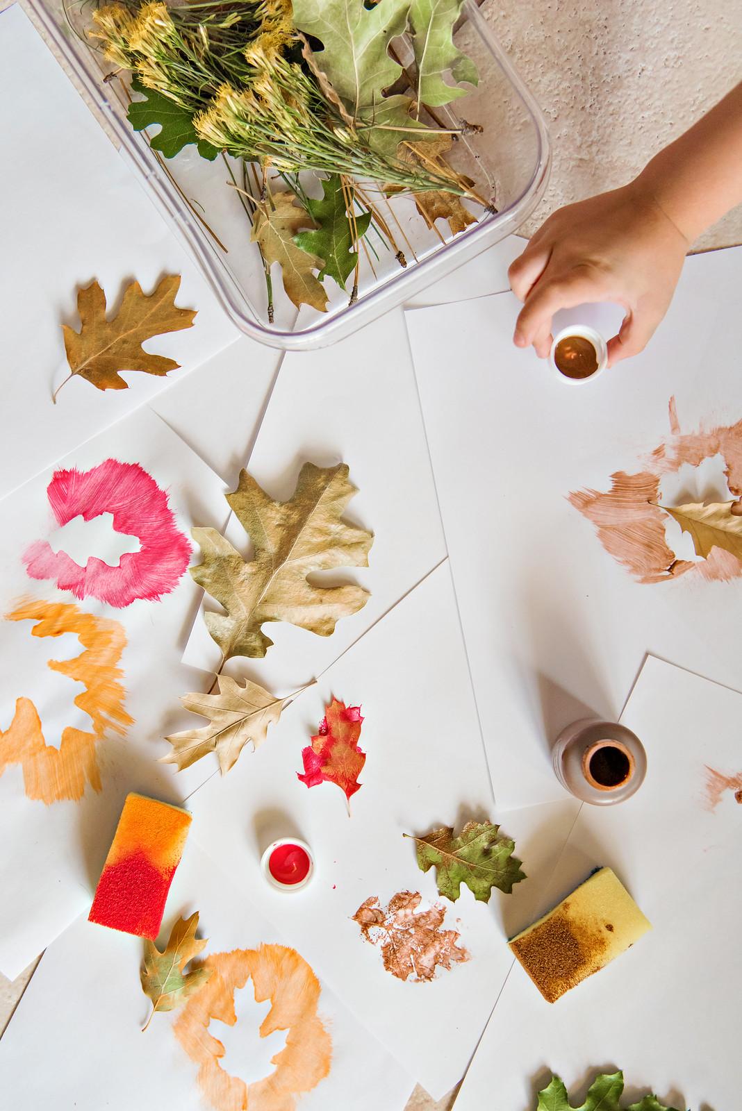 fall leaf paint craft