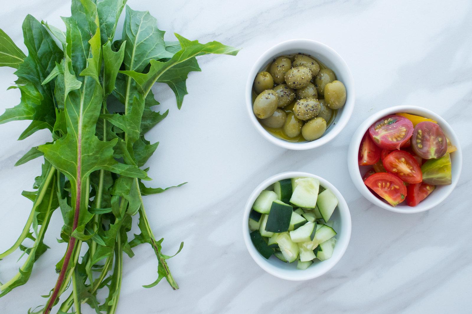 Organic Dandelion Salad