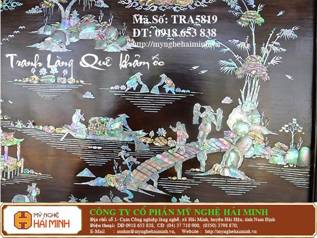 TRA5819h  Tranh Lang Que kham oc  do go mynghehaiminh