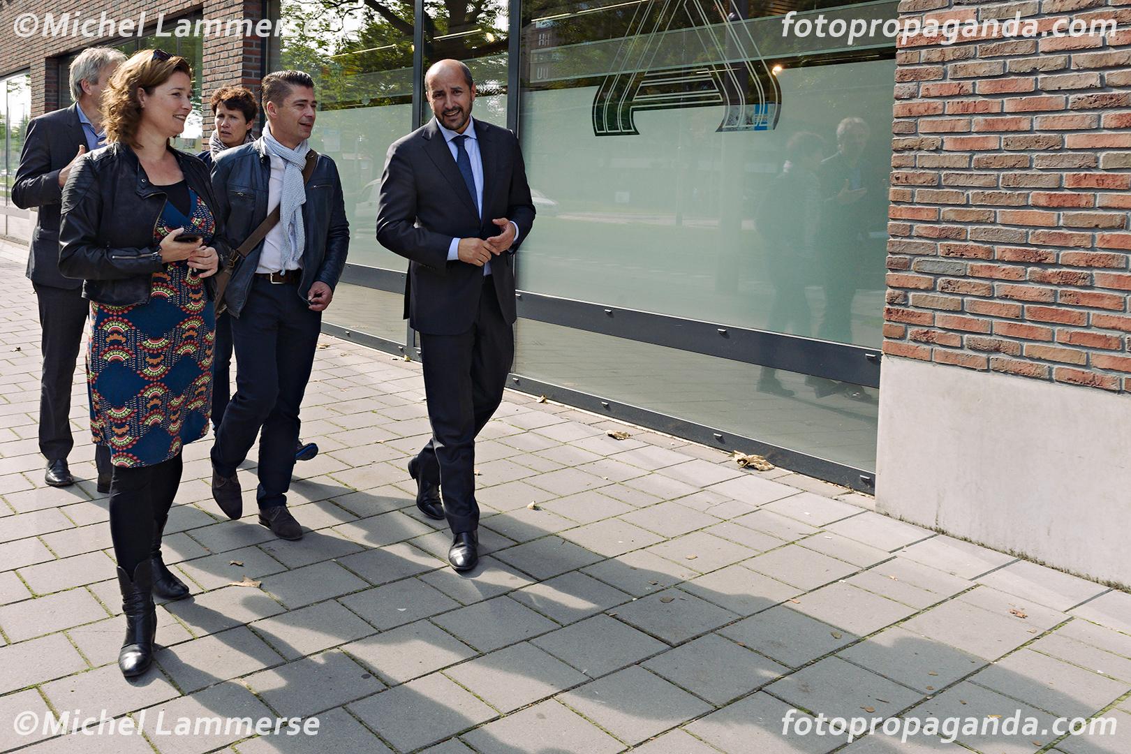bezoek burgemeester Marcouch aan Malburgen