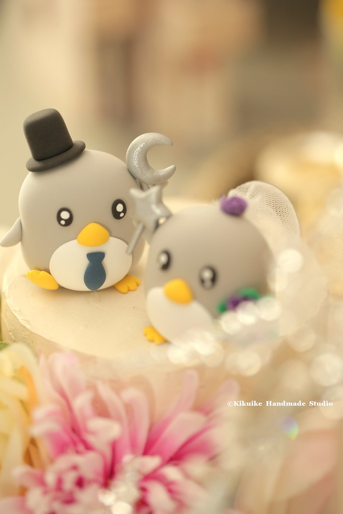 Penguins bride and groom custom Wedding Cake Topper, cute … | Flickr