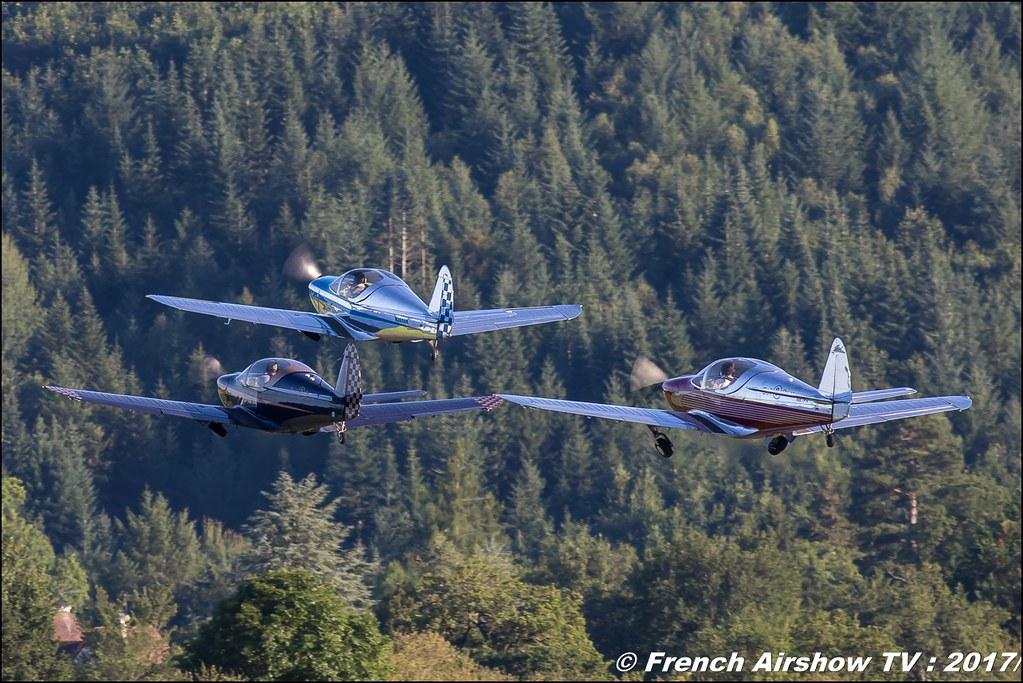 Patrouille Swift - Globe Swift CG-1B, voltige aerienne ,JPO Aurillac 2017 , Meeting Aerien Aeroclub du cantal 2017