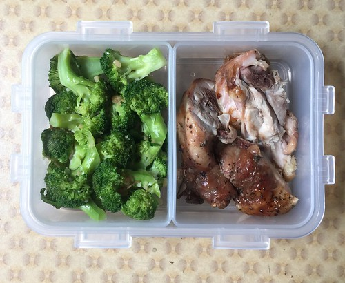 Steamed Broccoli and Roasted Chicken | by sayotekingdom
