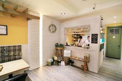 新北三峽北大有溫馨鄉村風格的餐廳店面