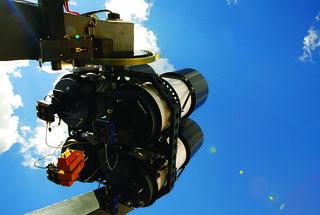 LANL's robotic thinking telescope system, RAPTOR.