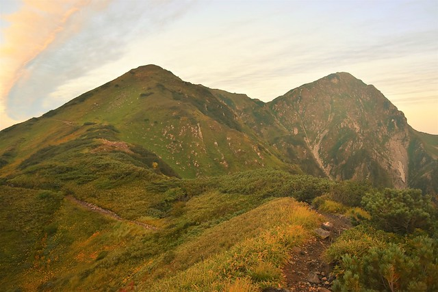 北アルプス・室堂~大日三山~称名滝 テント泊登山
