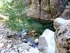 Départ du chemin au-dessus du lit du ruisseau de la Carciara
