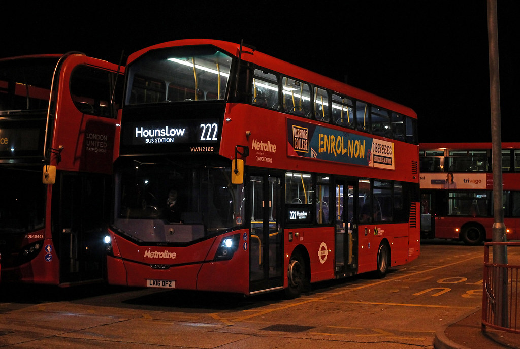 Route 222 Metroline West Vwh2180 Lk16dfz Vwh2180 Is