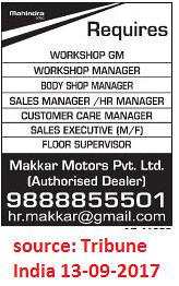 Makkar motors, Workshop GM