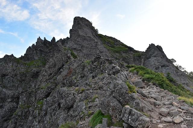 八ヶ岳登山 横岳の岩場