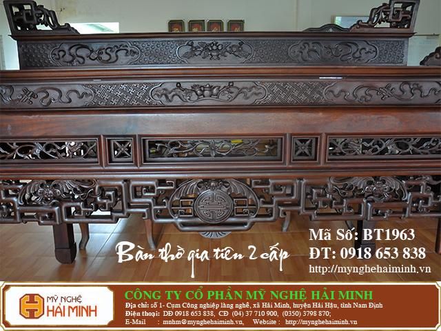BT1963f  Ban Tho Gia Tien 2 cap  do go mynghehaiminh