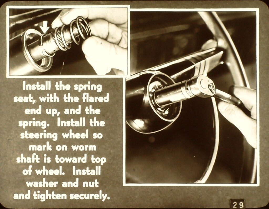 1952 Chevy Car Horn Connection Message Forum Restoration 1949 Truck See If These Photos Help Any Shown But A 51 52 Is The Same Other Than Fact That They Have Full Circle Ring And Different Cap Or Steering