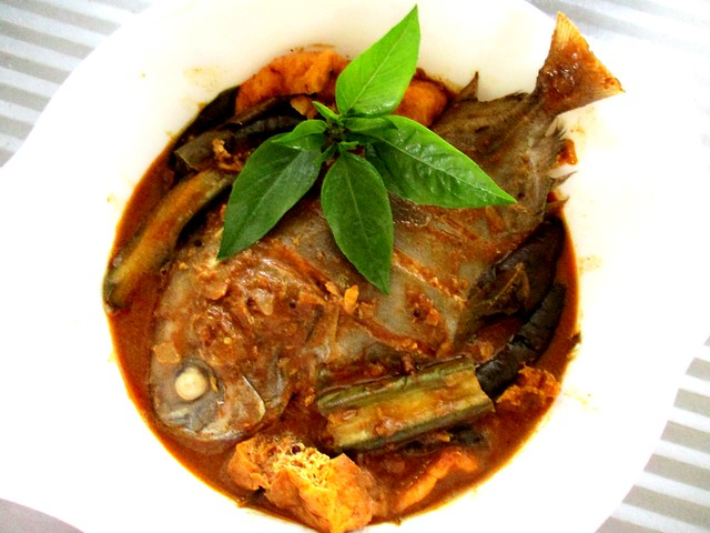My fish curry, bawal hitam