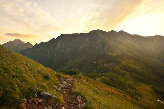 ご来光と立山別山~剱岳