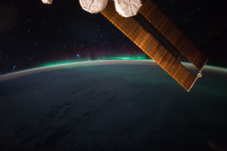 The aurora and the starry night | by NASA Johnson