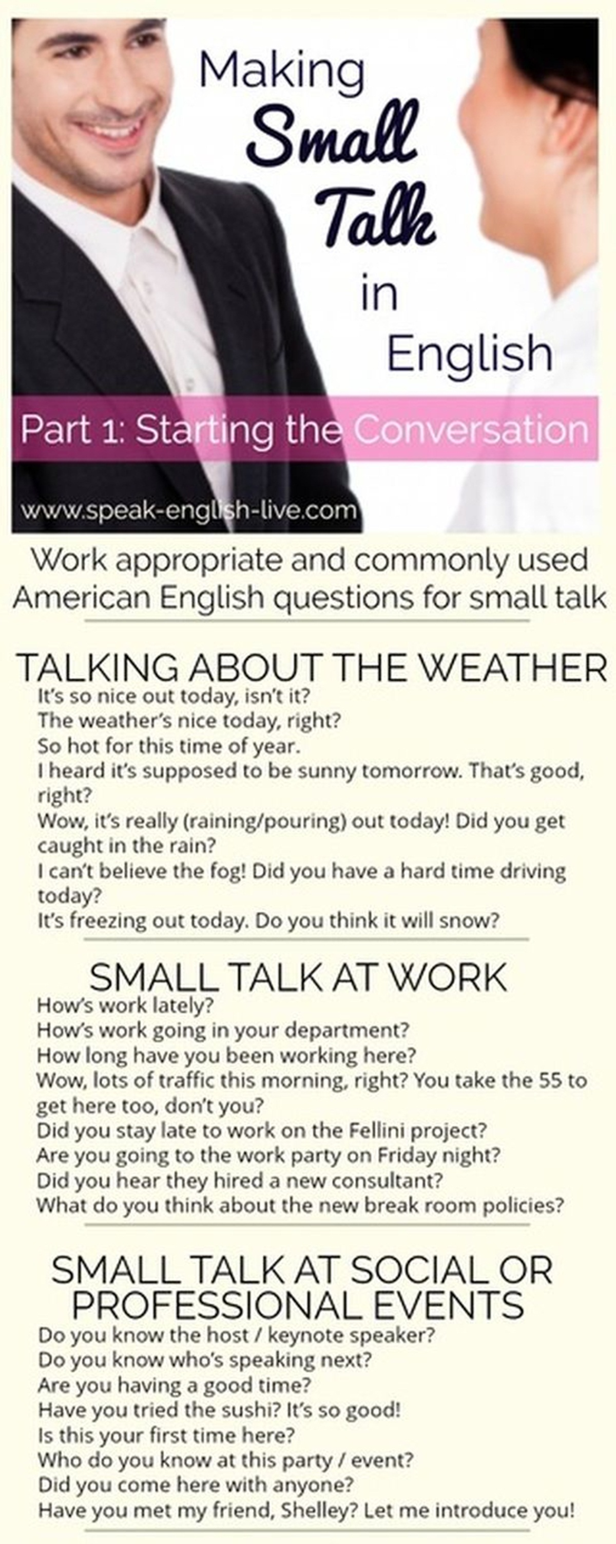 Making Small Talk in English 3