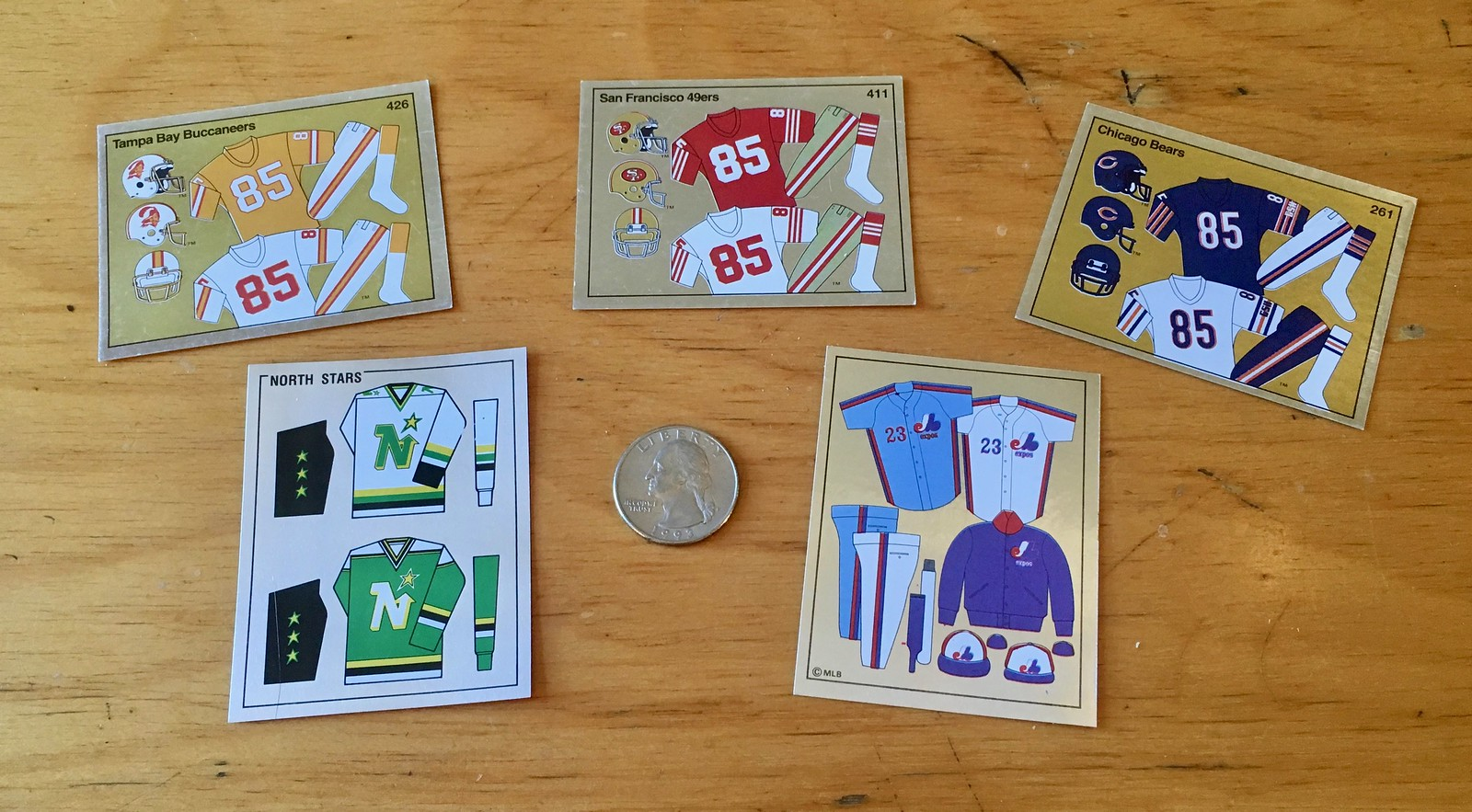 Major Vintage Find Pro Sports Uniform Trading Stickers Uni Watch