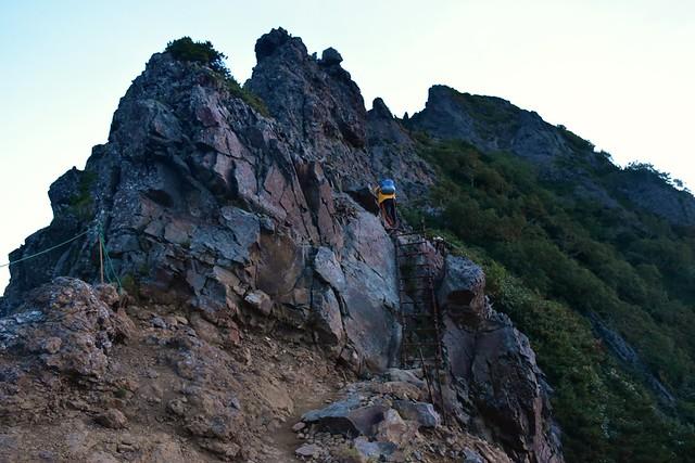 八ヶ岳登山 横岳のハシゴ