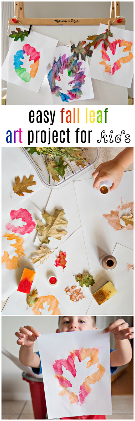 easy fall leaf painting project for kids