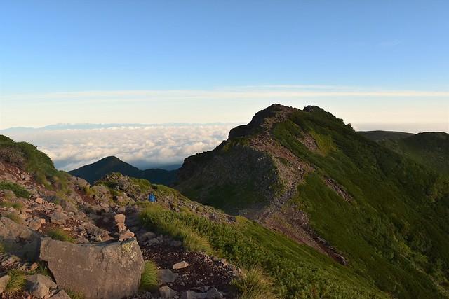 八ヶ岳登山 横岳の稜線