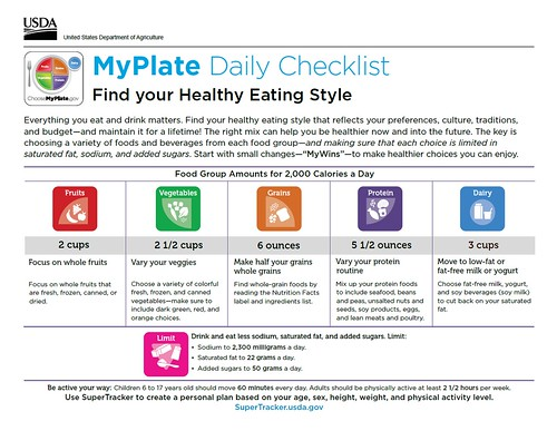 Sample MyPlate Plan