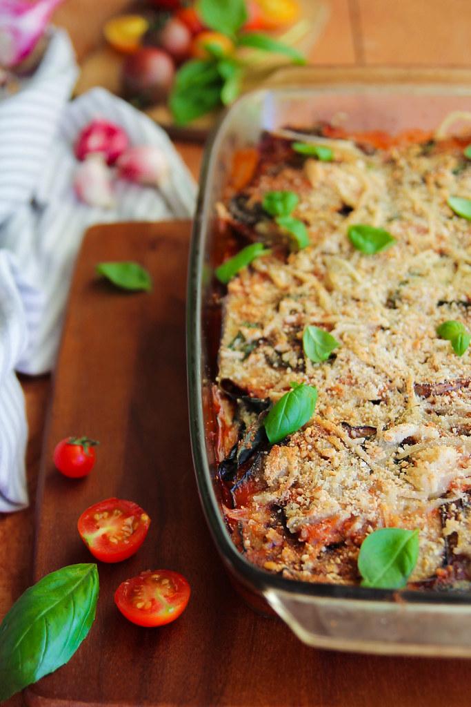 Parmesane d'aubergines vegan