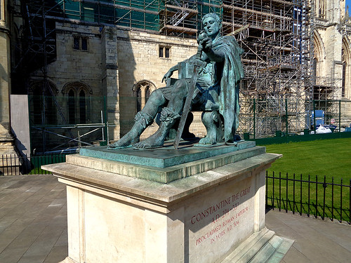 York Minster 22 - Statue of Constantine the Great | by worldtravelimages.net