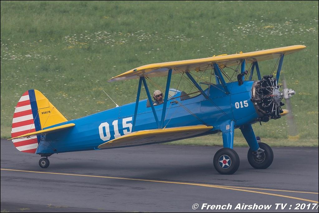 Stearman Roanne, N56178, Stearman.fr PT-17 , Heritage Wings , JPO Aurillac 2017 , Meeting Aerien Aeroclub du cantal 2017
