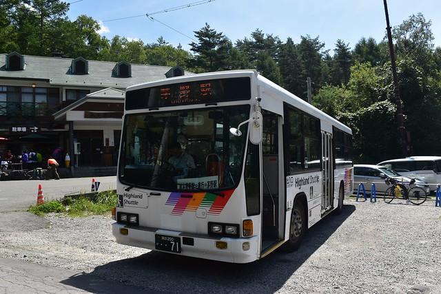 美濃戸口発茅野駅行きバス