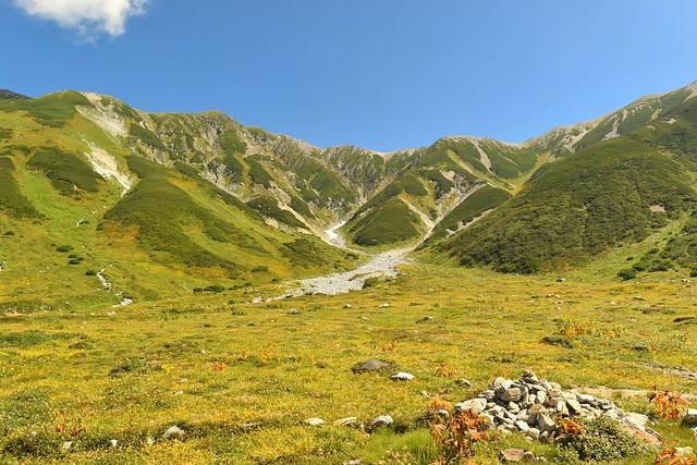 北アルプス登山 立山と草紅葉