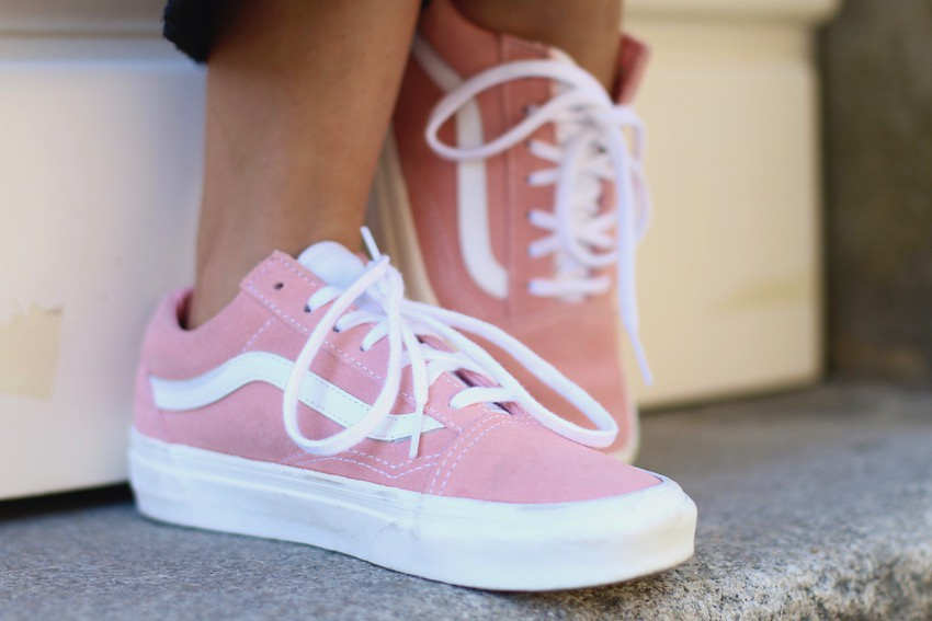 vans old skool con rosas