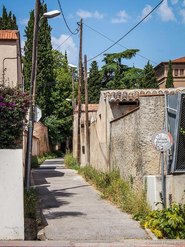 Camino de Sant Genís a Horta desde la avenida Cardenal Vidal i Barraquer