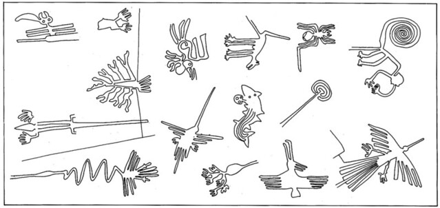 Dibujo de las Líneas de Nazca (Perú)