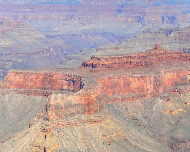 Una de las muchas panorámicas que vimos volando en helicóptero por el Gran Cañón