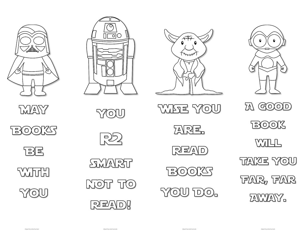 star wars colouring bookmarks - set 3 | print these cute sta… | flickr