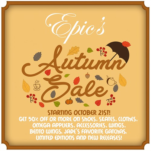 *Epic* Autumn Sale 2017 Poster! {Promo Card} Ad | by Jade Winthorpe ღDeath.Chanღ