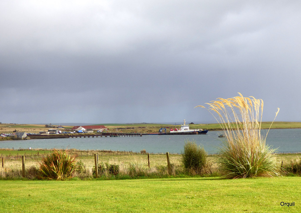 mini houton harbour seen from my okrney garden that quite flickr