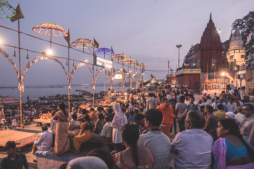 Varanasi - Ghats - Ganga Aarti prayer | by crystalcastaway