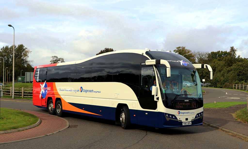 54356 YX67UPA Stagecoach Fife | YX67UPA is a Volvo B11RT/Pla… | Flickr