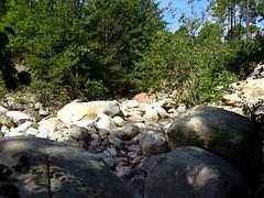 Le point de traversée de la Figa Bona par le chemin d'exploitation de Carciara