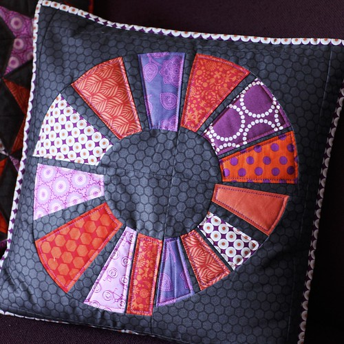 Free hand paper piecing cushion | by Mary-and-Tobit