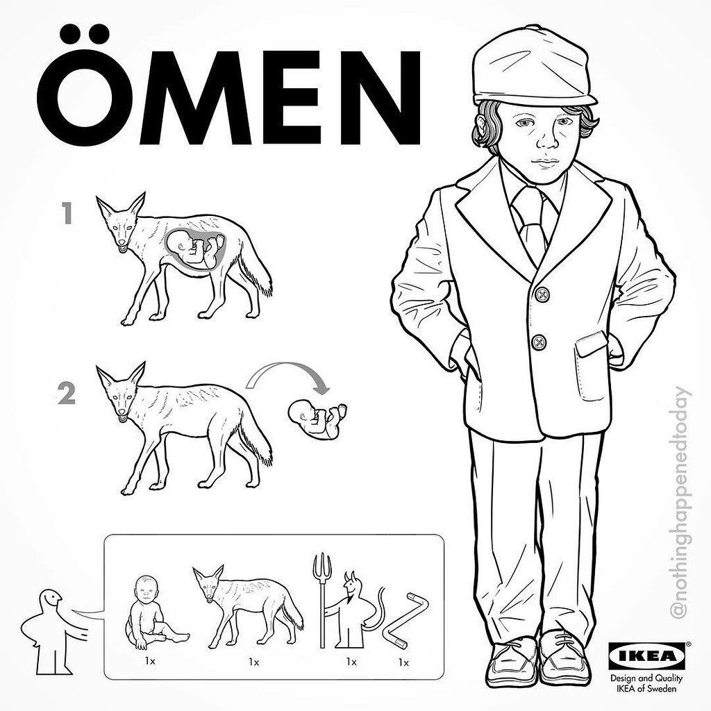 IKEA Instructions for Horror Fans - Damien from The Omen by Ed Harrington