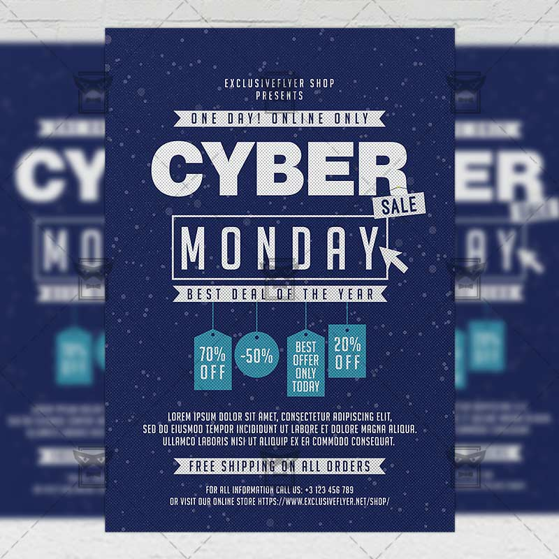 Cyber Monday Sale Community A5 Flyer Template The Cyber Flickr