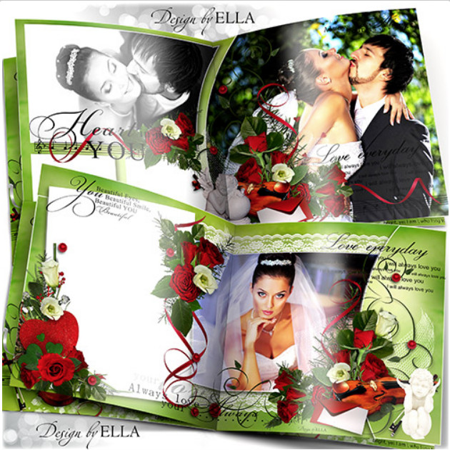 Wedding-romantic photobook and calendar – Love Story