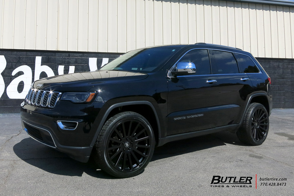 ... Jeep Grand Cherokee With 22in Black Rhino Spear Wheels And Toyo Proxes  STII Tires | By