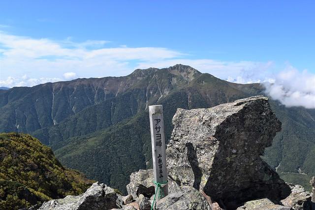 南アルプス・アサヨ峰山頂