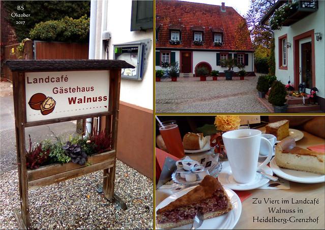 Landcafé Walnuss in Grenzhof bei Heidelberg ... Fotos: Brigitte Stolle, Oktober 2017