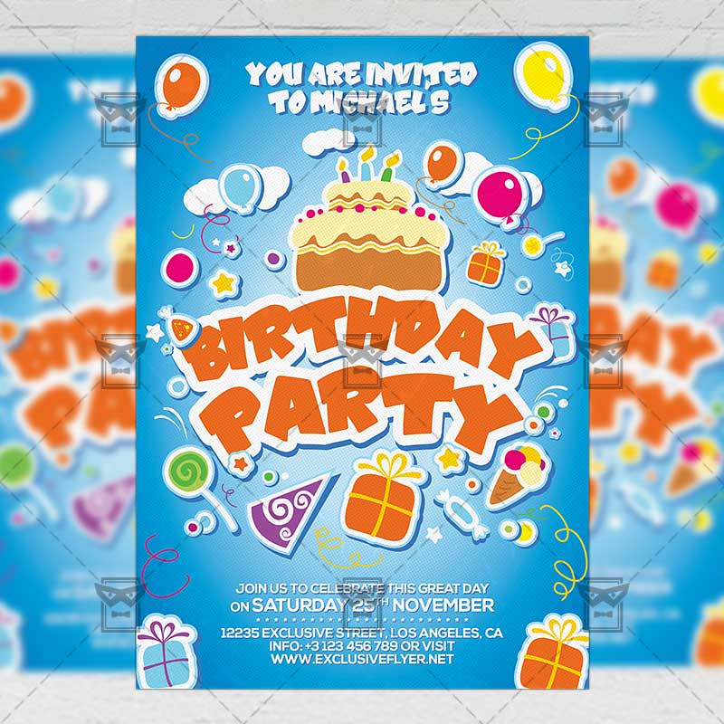 Kids birthday invitation card a5 psd template the kids b flickr kids birthday invitation card a5 psd template by exclusiveflyer filmwisefo