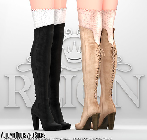 REIGN.- Autumn Boots and Socks | by REIGN♥
